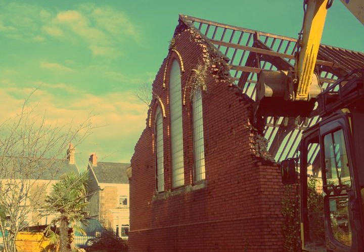 A Crynant Plant & Construction ltd. project involving the demolition of St. Mary's church in Skewen, Swansea.