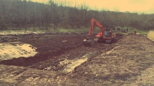 A Crynant digger carrying out groundworks in the Neath & Swansea area.